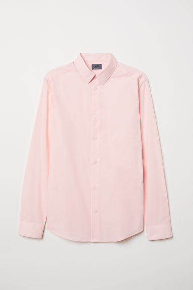 Premium cotton shirt - Light pink - Men | H&M