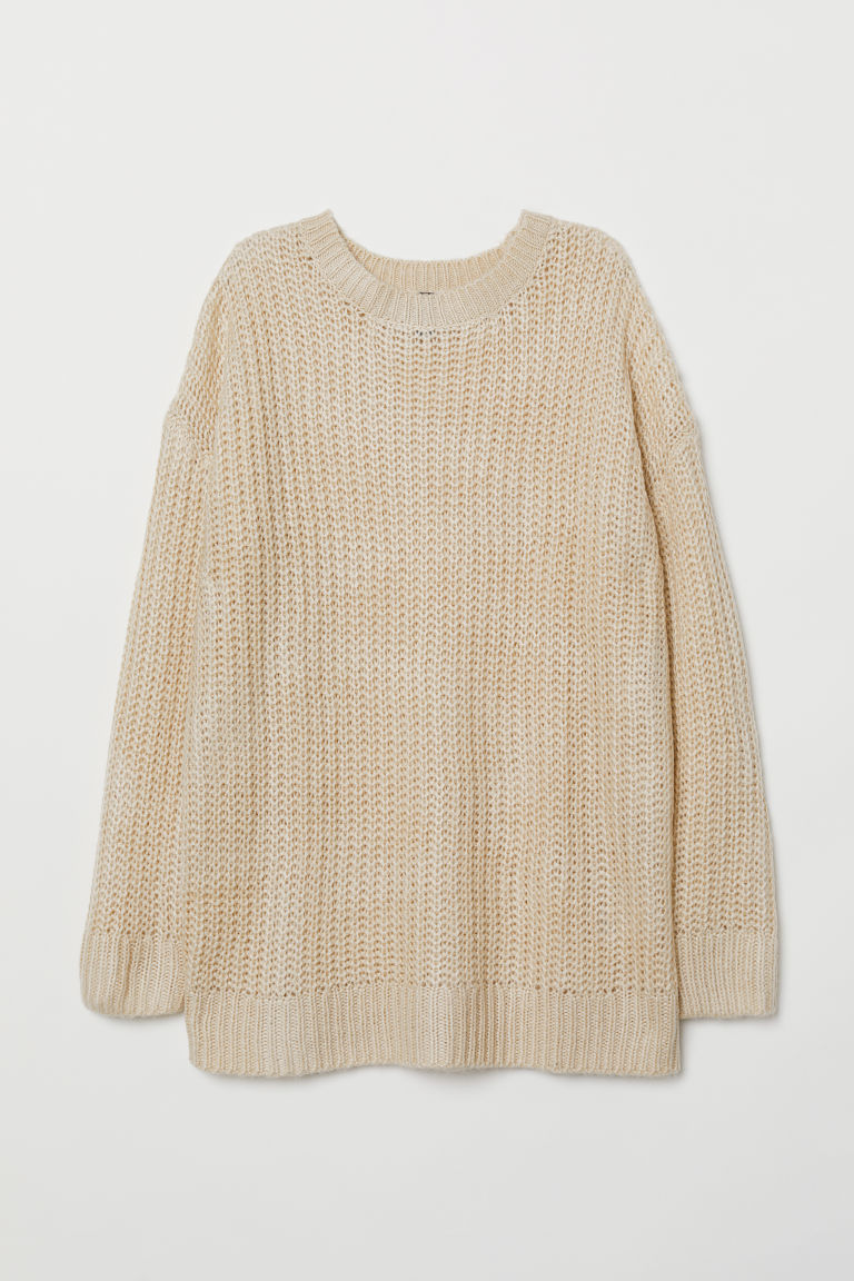 Knit Sweater - Light beige -  | H&M US
