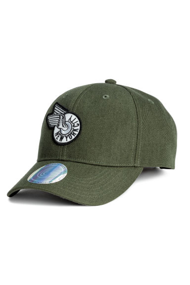 Cap with embroidery - Green/New York City -  | H&M