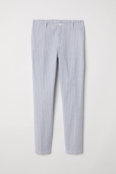 Cotton chinos - White/Blue striped -  | H&M