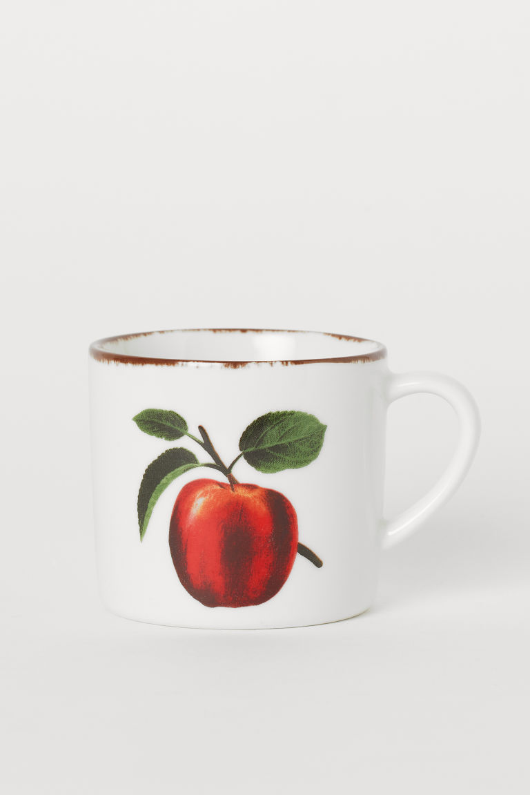 Porcelain cup - White/Apple - Home All | H&M GB