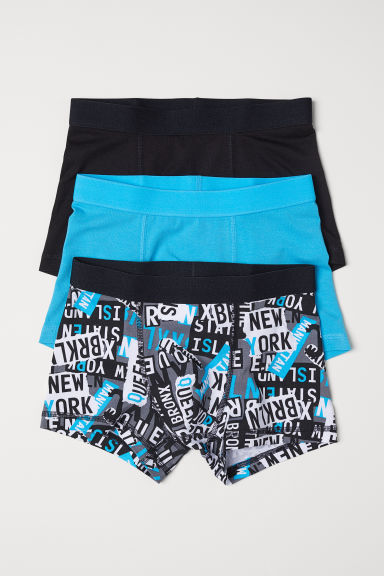 3-pack boxer shorts - Turquoise/Patterned -  | H&M
