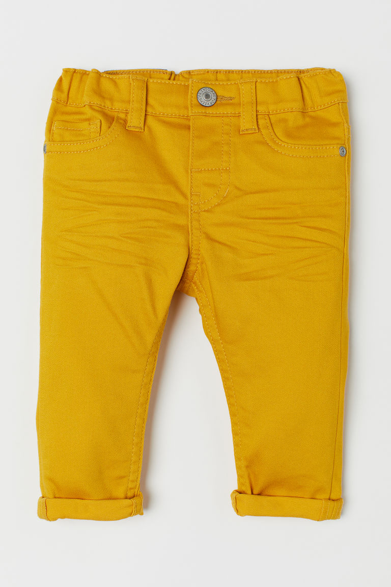 Twill trousers - Yellow - Kids | H&M CN