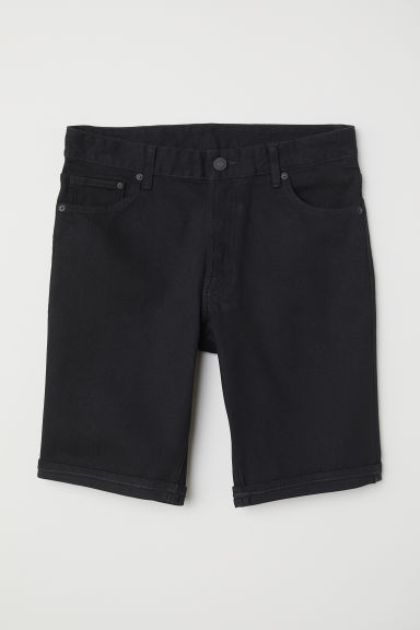 Shorts in denim Slim fit - Nero - UOMO | H&M IT