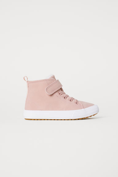 Pile-lined hi-tops - Powder pink - Kids | H&M CN