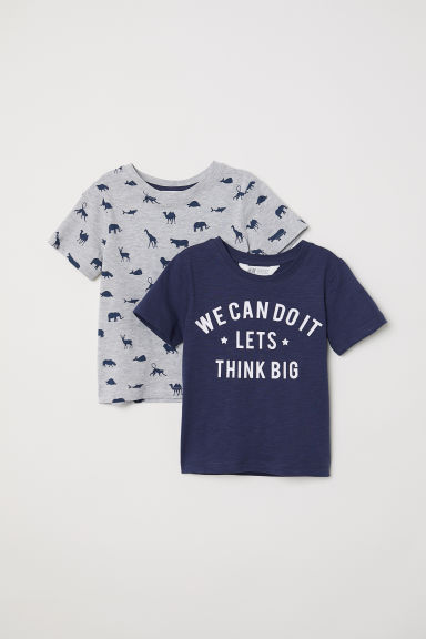 2-pack T-shirts - Dark blue/Dinosaurs -  | H&M CN