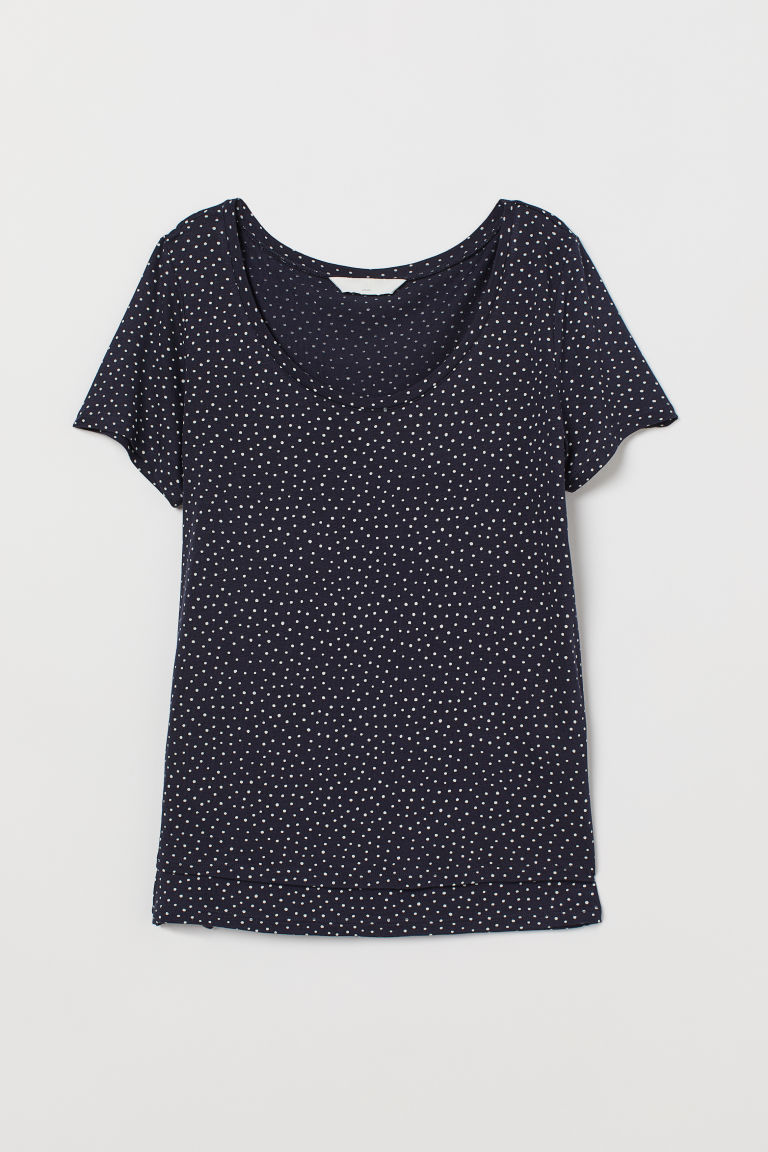 MAMA Top da allattamento - Blu scuro/pois - DONNA | H&M IT