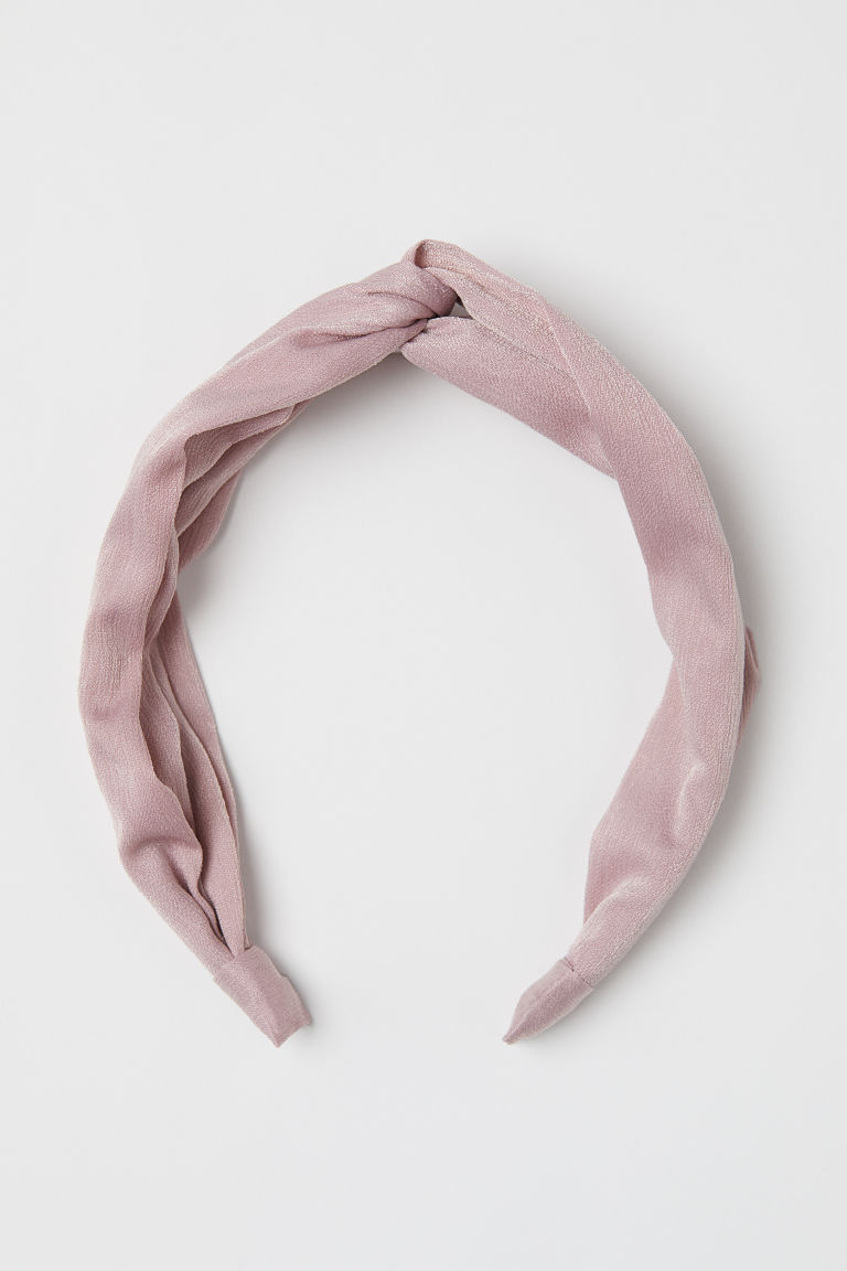 Hairband with Knot Detail - Powder pink -  | H&M US