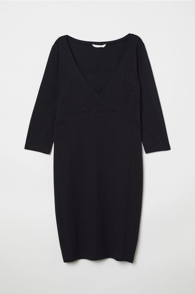 6471051ee9 MAMA Sukienka dla karmiącej - Czarny - ONA