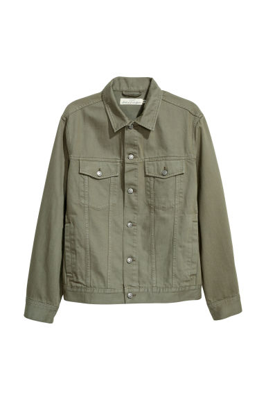 Denim jacket - Light khaki green -  | H&M CN