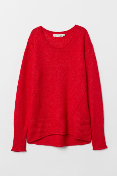 Knit Sweater - Red - Ladies | H&M US