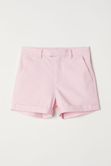 Twill shorts - Light pink -  | H&M