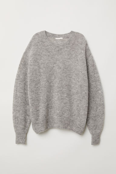 Mohair-blend jumper - Light grey marl - Ladies | H&M