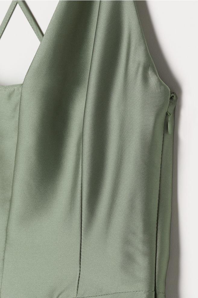 08262854798 Maxi dress - Dusky green - Ladies