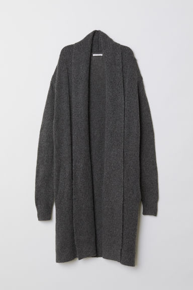 Knit Cardigan - Dark gray melange - Ladies | H&M US