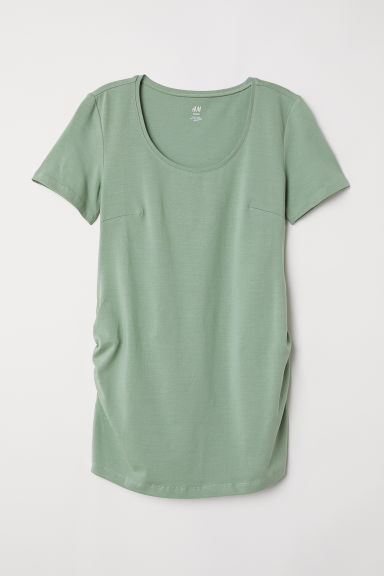 MAMA Top in jersey di cotone - Verde kaki - DONNA | H&M IT