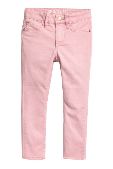 Twill trousers Skinny Fit - Light pink -  | H&M CN