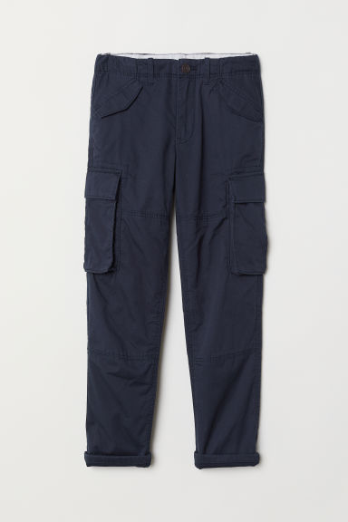 Lined cargo trousers - Dark blue - Kids | H&M CN