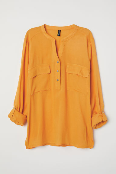 V-neck blouse - Yellow - Ladies | H&M