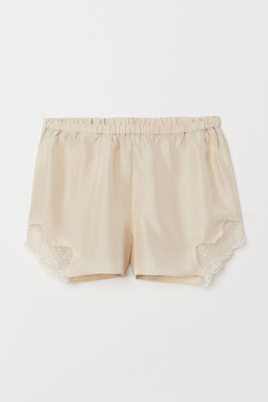 Shorts in seta - Beige chiaro - DONNA | H&M IT