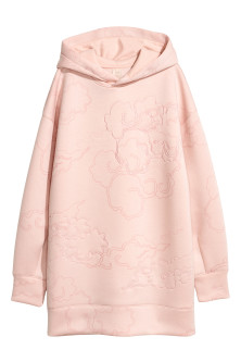 Scuba-fabric Hooded Top