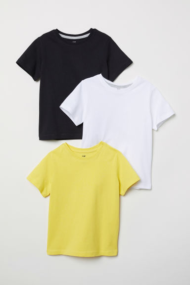 3-pack T-shirts - Yellow - Kids | H&M CN