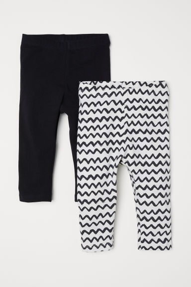 Set van 2 tricot leggings - Wit/dessin - KINDEREN | H&M BE