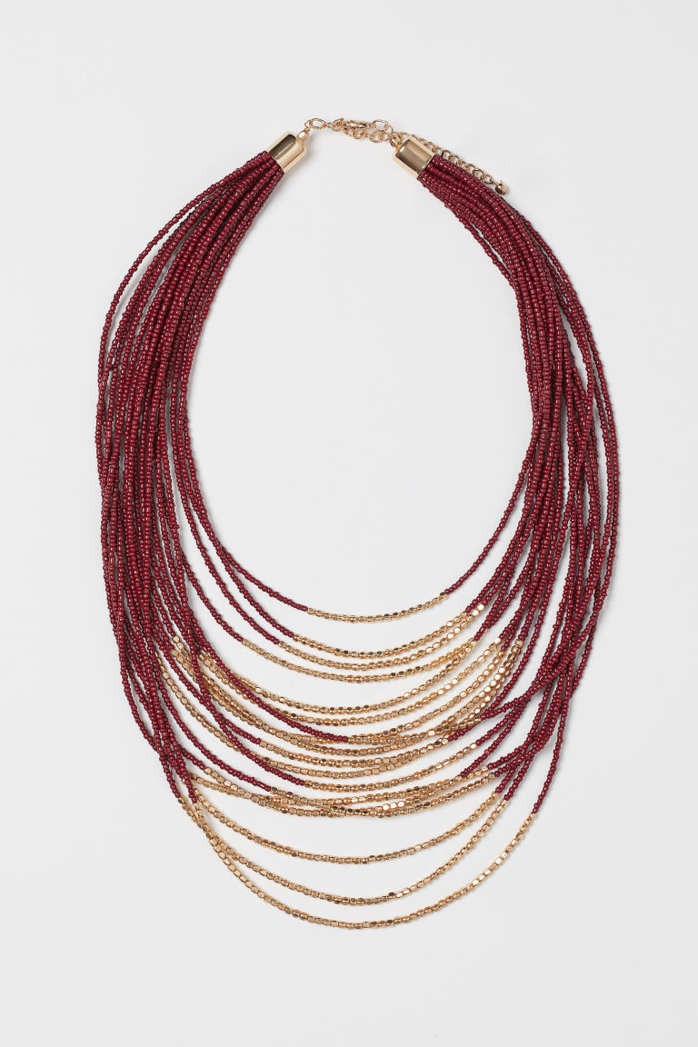 Multi-strand Necklace - Dark red/gold-colored - Ladies | H&M US