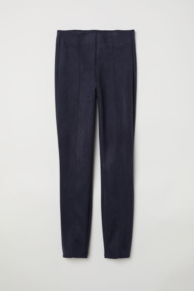 Imitation suede treggings - Dark blue -  | H&M GB