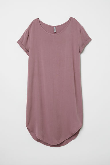 Viscose T-shirt dress - Dark old rose - Ladies | H&M