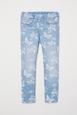 7a93b0114315e Patterned Denim Leggings