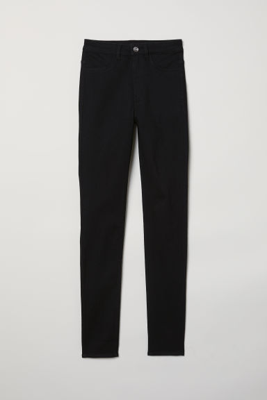 Super Skinny High Jeans - Black denim - Ladies | H&M