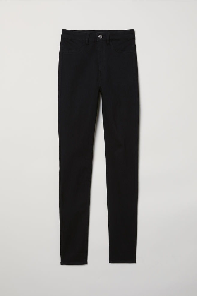 b17fee2e4af2 Super Skinny High Jeans - Black denim - | H&M ...