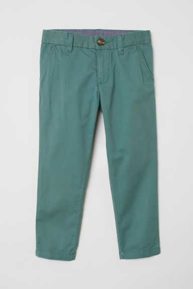 Cotton chinos - Green - Kids | H&M