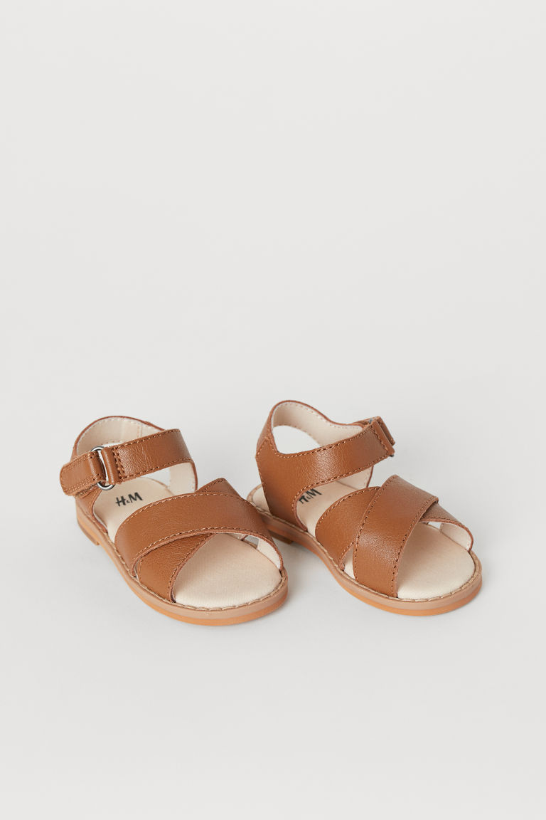 Leather Sandals - Brown - Kids | H&M US