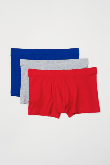 3-pack short trunks - Red/Multicoloured - Men | H&M