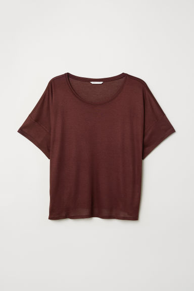 T-shirt in viscosa - Bordeaux - DONNA | H&M IT