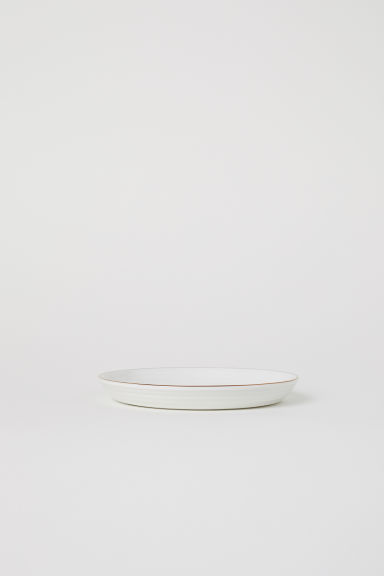 Textured porcelain plate - White - Home All | H&M CN