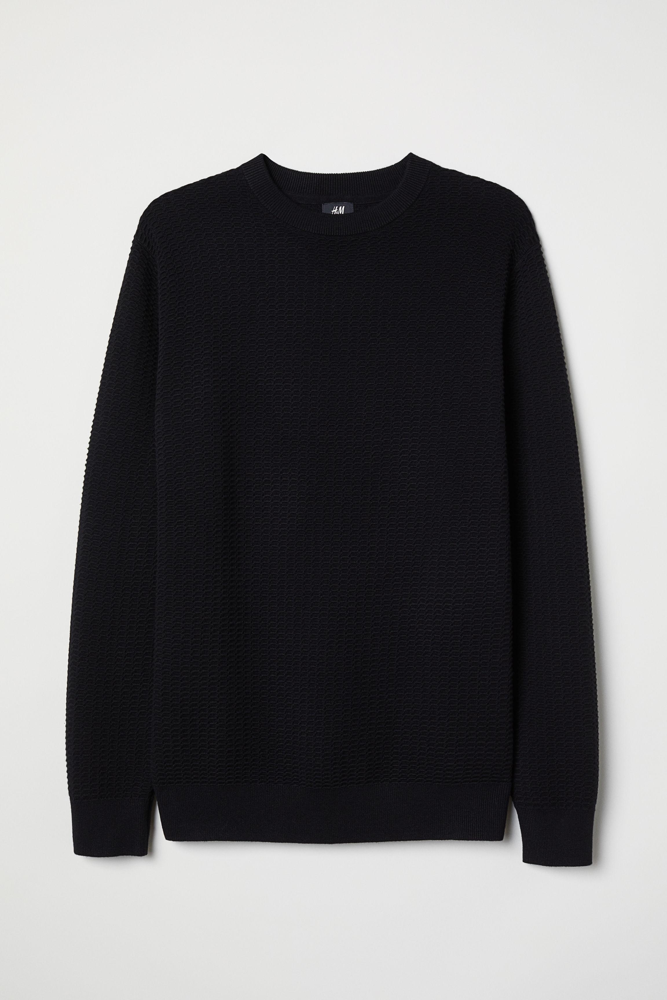 085aefc6 Textured-knit Sweater - Burgundy - Men   H&M US
