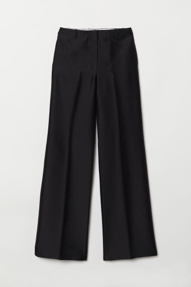 Wool-blend trousers - Black - Ladies | H&M