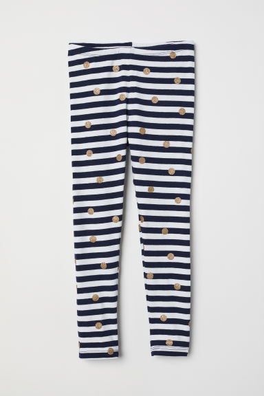 Leggings - White/Blue striped - Kids | H&M