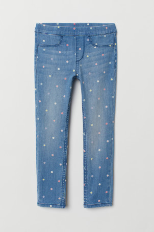 Gemusterte Denimleggings