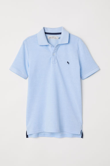 Polo shirt - Light blue marl - Kids | H&M CN