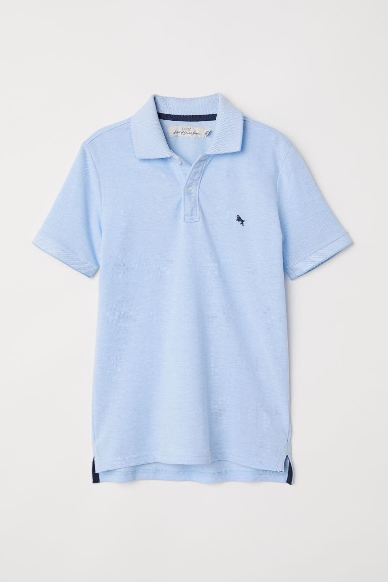 Polo shirt - Light blue marl - Kids | H&M