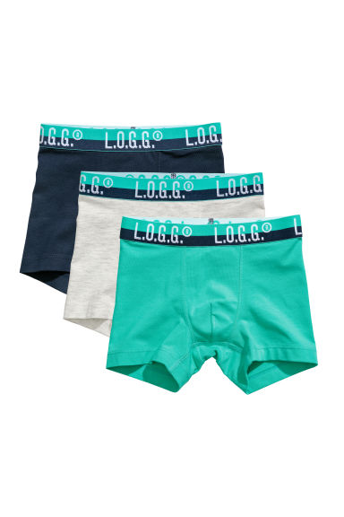 3-pack boxer shorts - Green/Dark blue - Kids | H&M
