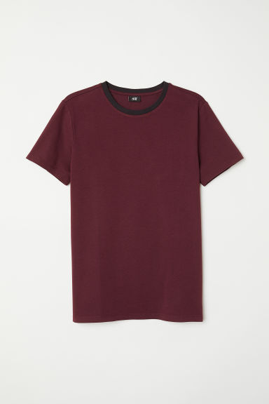 T-shirt Muscle Fit - Burgundy - Men | H&M