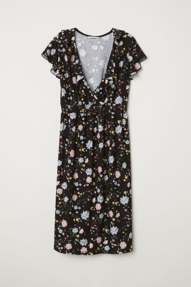 MAMA Dress - Black/Floral - Ladies | H&M