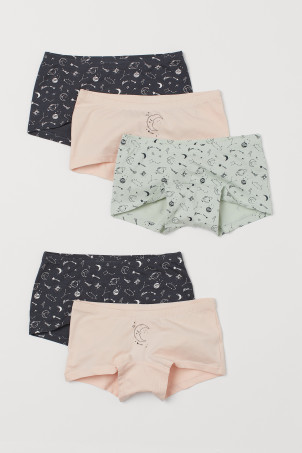 Shortys en coton, lot de 5