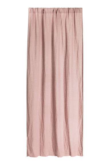 Washed linen curtain length - Dusky pink -  | H&M CN