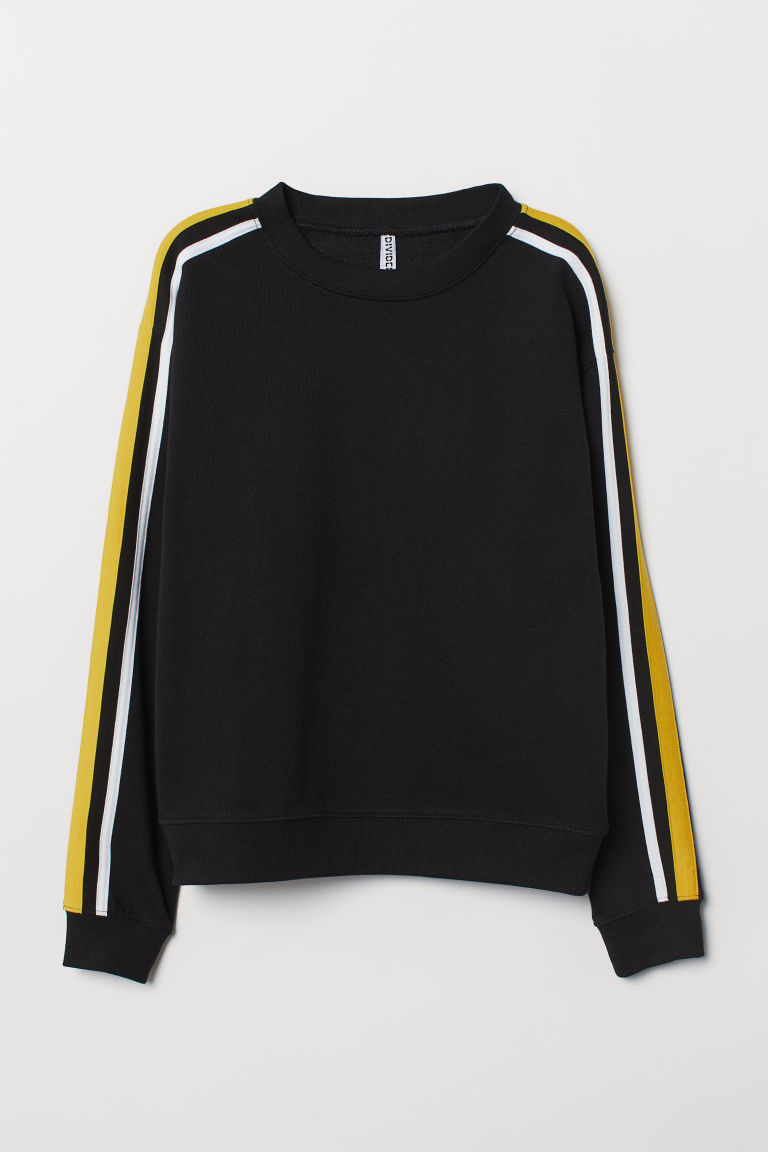 Sweatshirt - Black -  | H&M CN